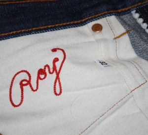 ROY RS1 embroidery