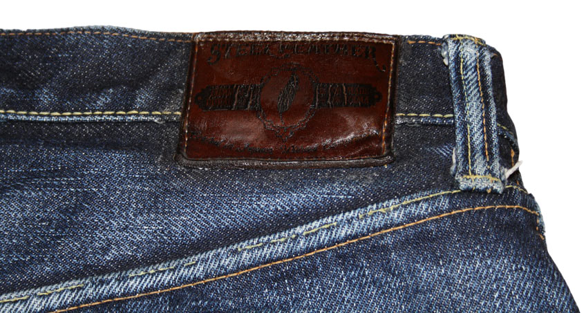 Steel Feather jeans patch