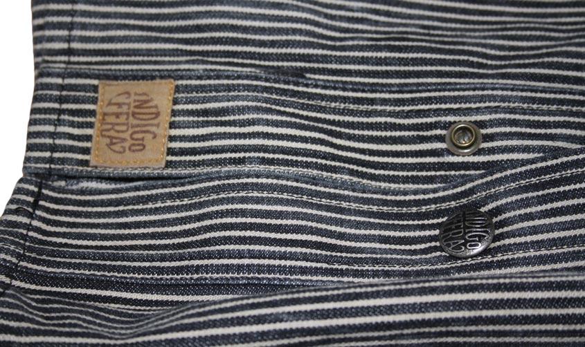 Indigofera fargo shirt buttons