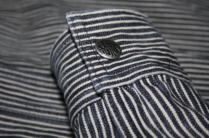 Indigofera fargo shirt cuff