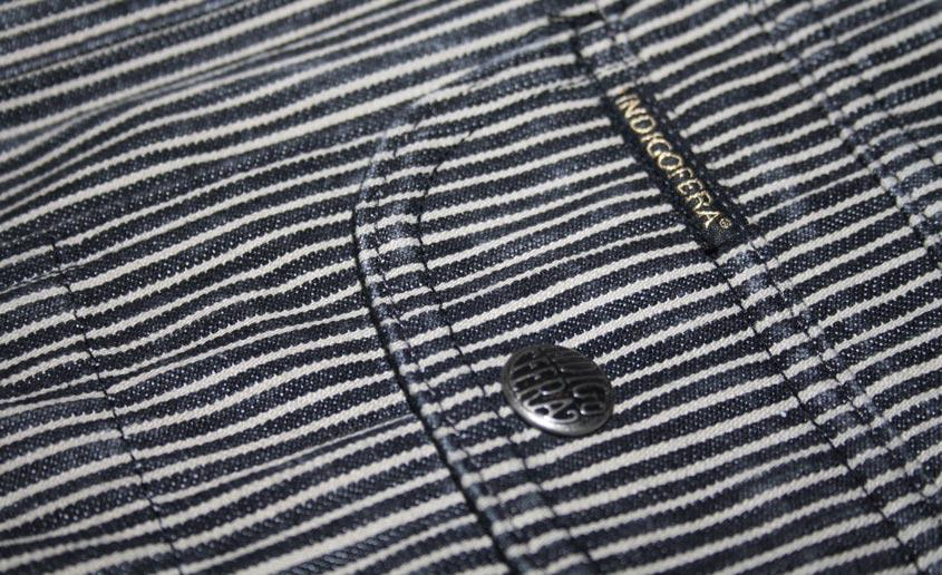 Indigofera fargo shirt pocket flap