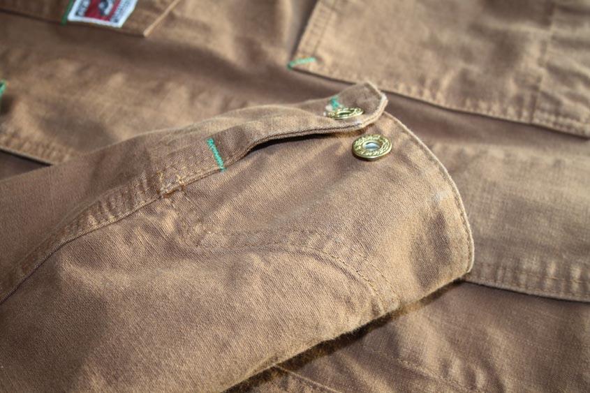 TCB chore coat cuff