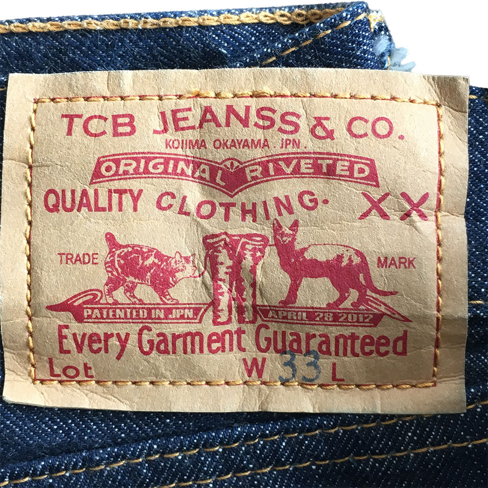 TCB jeans 60's paper patch
