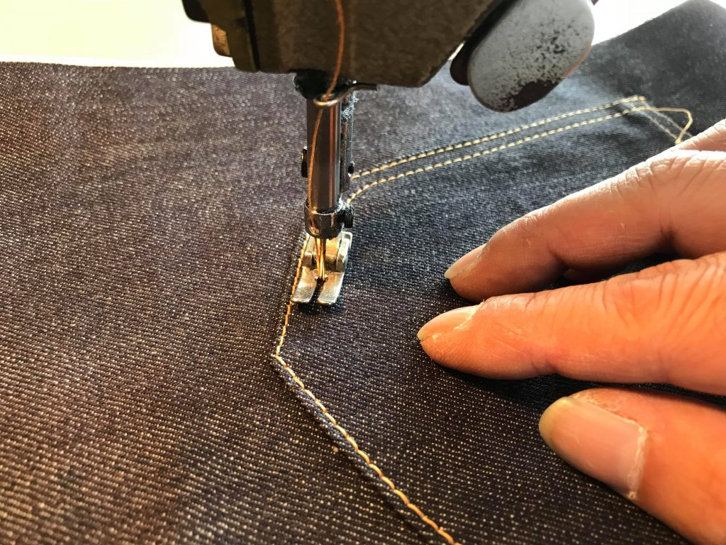 Double Volante making backpocket