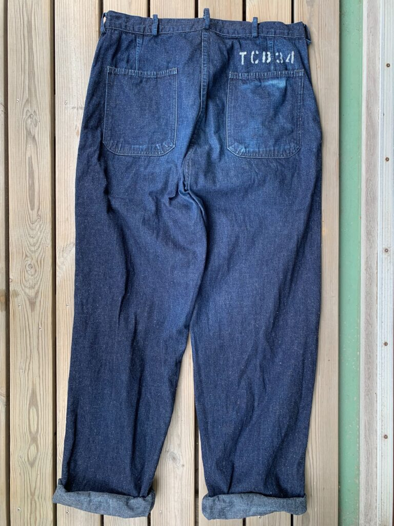 TCB Seamens trousers back 6 months of wear