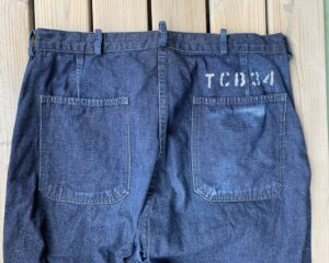 TCB Seamens trousers backpockets 6 months of wear