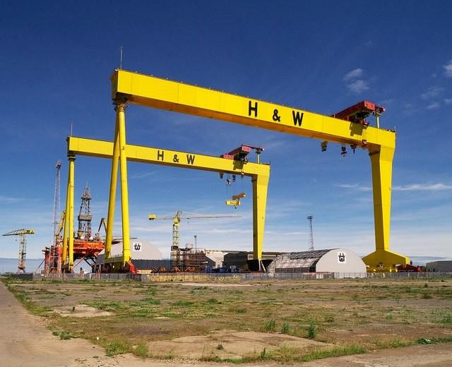 Belfast harbor cranes