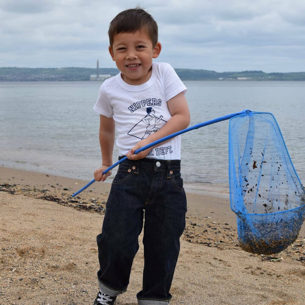 jack on the beach in Nippers outfit