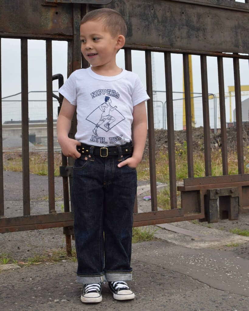jack posing in Nippers NO1 jeans