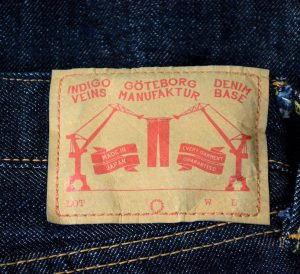 Patch from collab jeans with Göteborg Manufaktura and Denim-Base